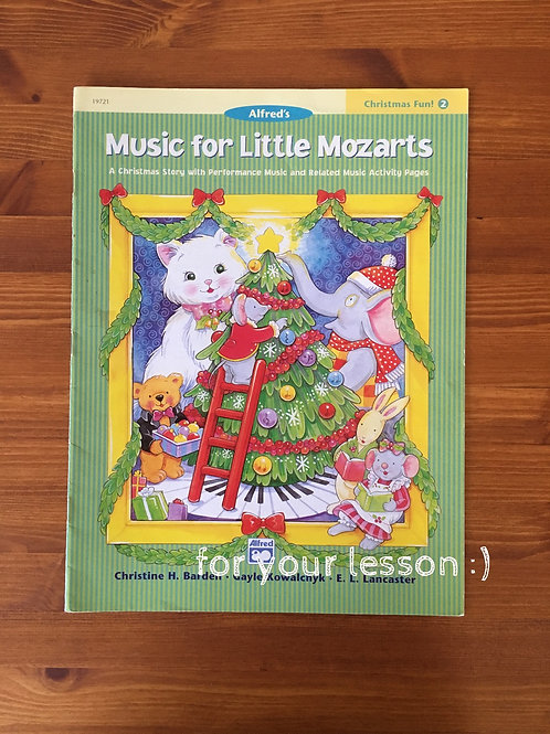 Music for Little Mozarts : Christmas Book