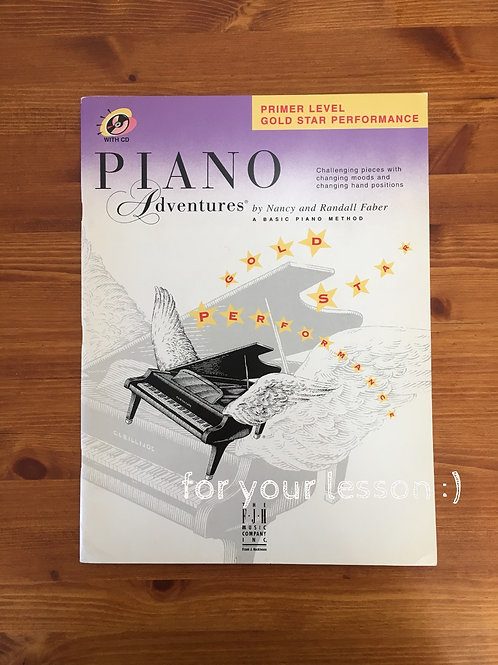 piano adventure premier level gold star
