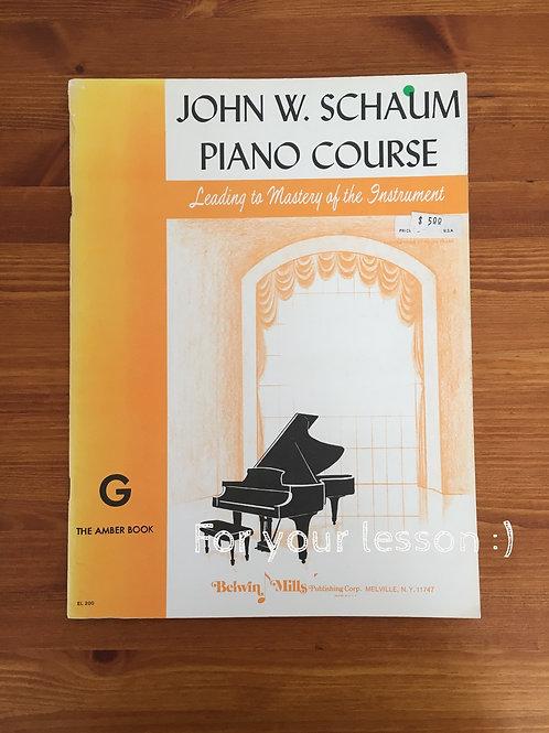 John W. Schuaum Piano Course
