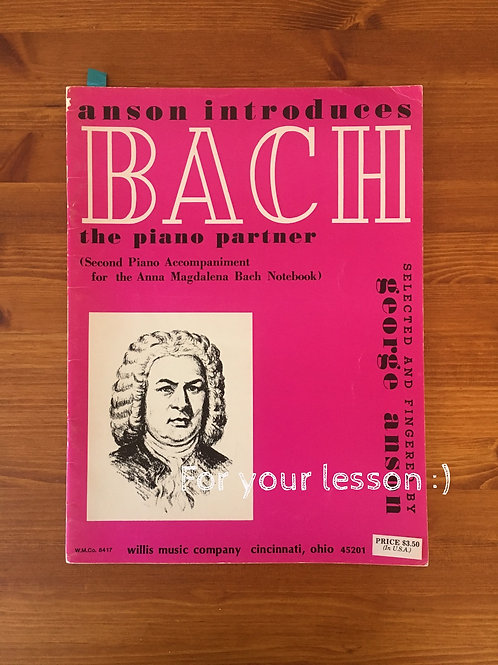 Bach: the Piano Partner