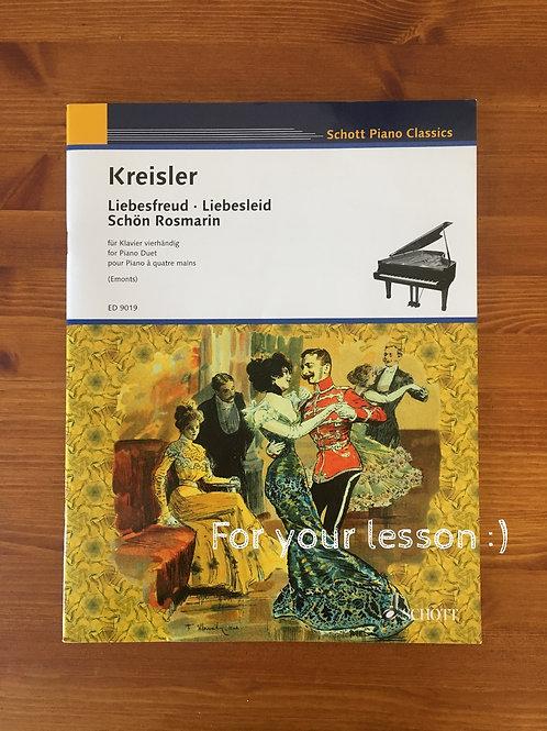 Liebesfreud - Liebeslied - Schon Rosmarin Piano Duet By Fritz Kreisler