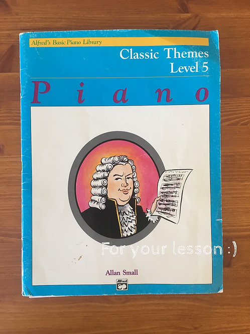 Alfred's Basic Piano Library Classic Themes, Book 5