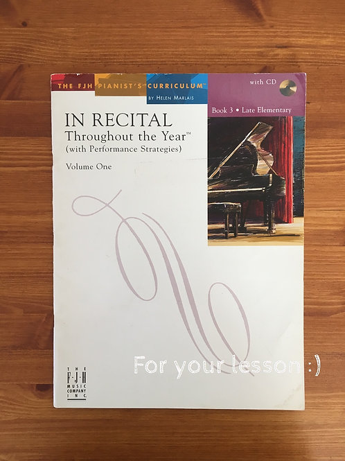 In Recital! Throughout the Year:Volume One, Book 3