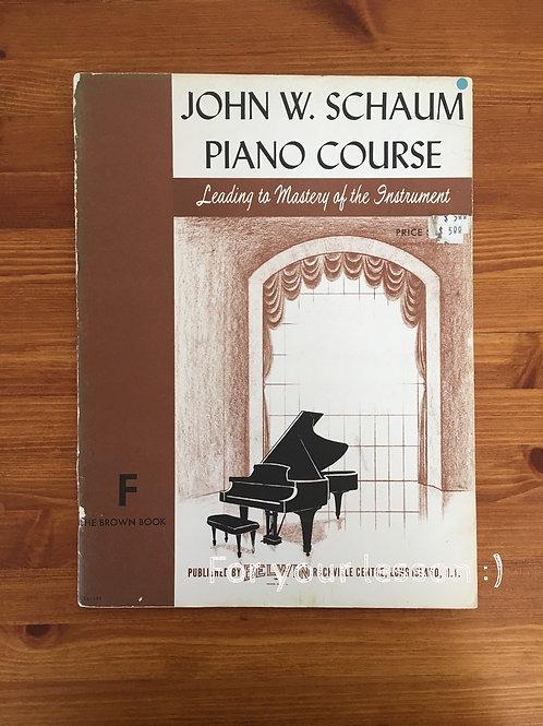 John W Schuam Piano Course