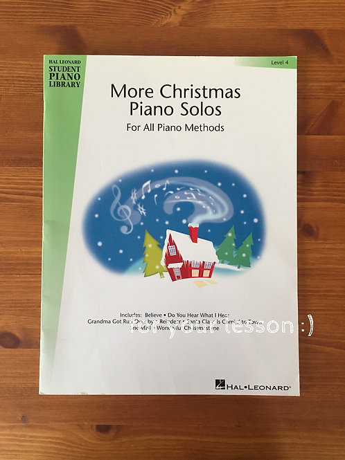 More Christmas Piano Solos Level