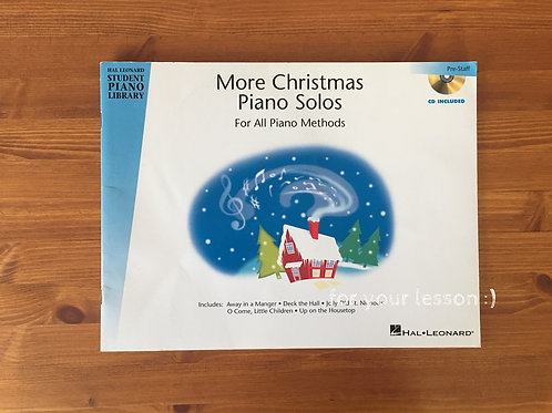 More Christmas Piano Solos with CD