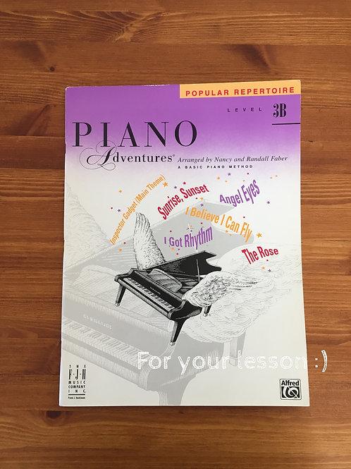 Piano Adventures Level 3B - Popular Repertoire Book