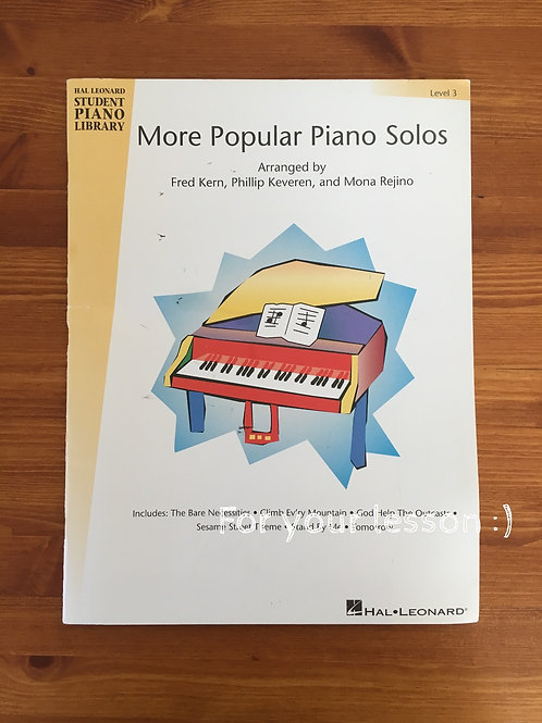 More Popular Piano Solos : 3