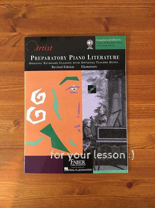 Preparatory Piano Literature Artist