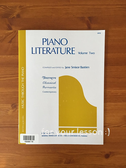 Piano Literature Volume 2