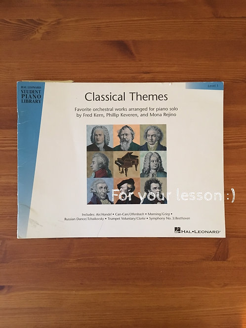 Classical Themes - Level 1 Hal Leonard Student Piano Library