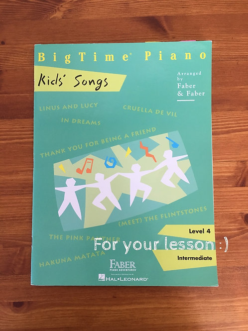 BigTime Kids' Songs Level 4