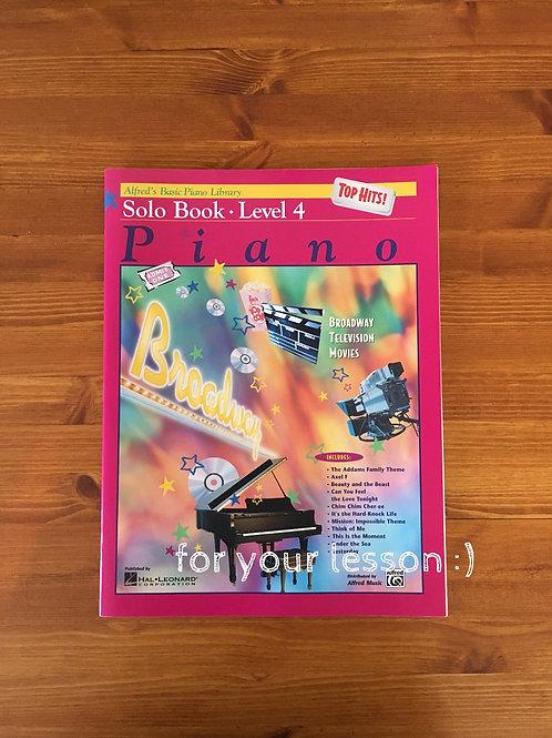Top Hit! Solo Book Level 4 Piano