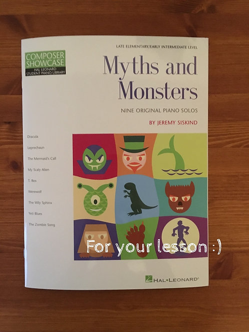 Myths and Monsters By Jeremy Siskind