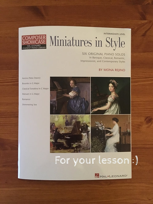 Miniatures in Style Hal Leonard Student Piano Library Composer Showcase Intermed
