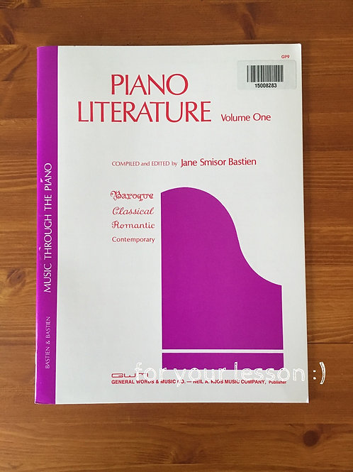 Piano Literature Volume 1