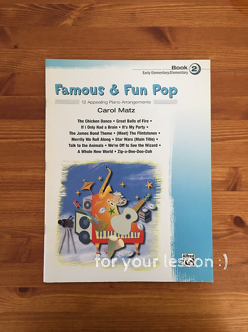 Famous & Fun Pop Book 2