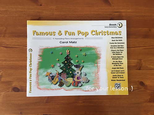 Famous and Fun Pop Christmas: Book 1