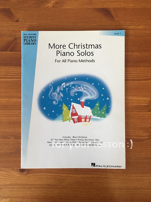 More Christmas Piano Solos : Level 1