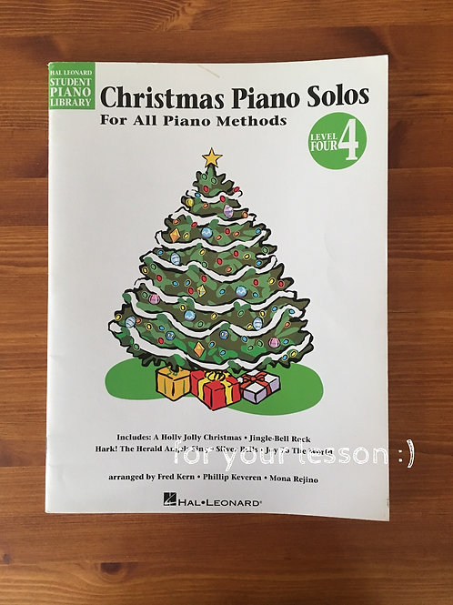 Christmas Piano Solos: Level 4