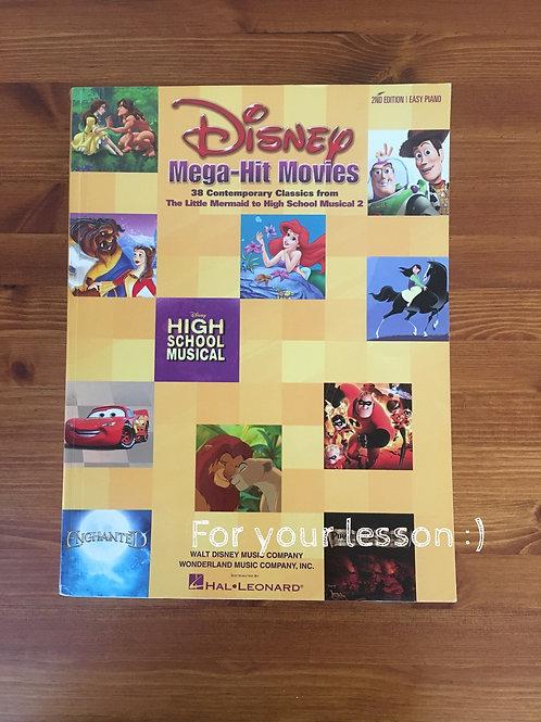 Disney Mega-Hit Movies - Easy Piano