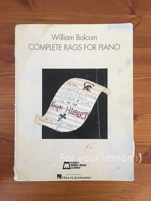 Complete Rags For Piano By William Bolcom
