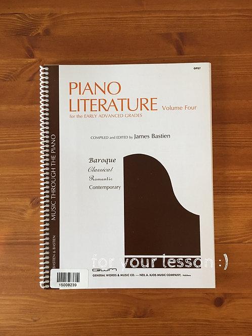 Piano Literature : Volume 4