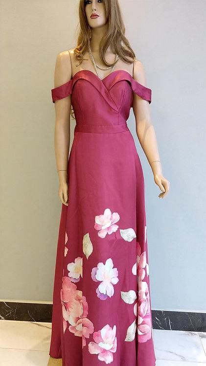 Vestido Longo Estampado Ref. 879