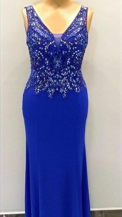 Vestido Longo Azul Royal Ref: 008
