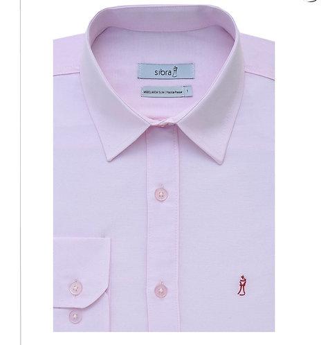 Camisa Longa Slim Rosa sem Bolso