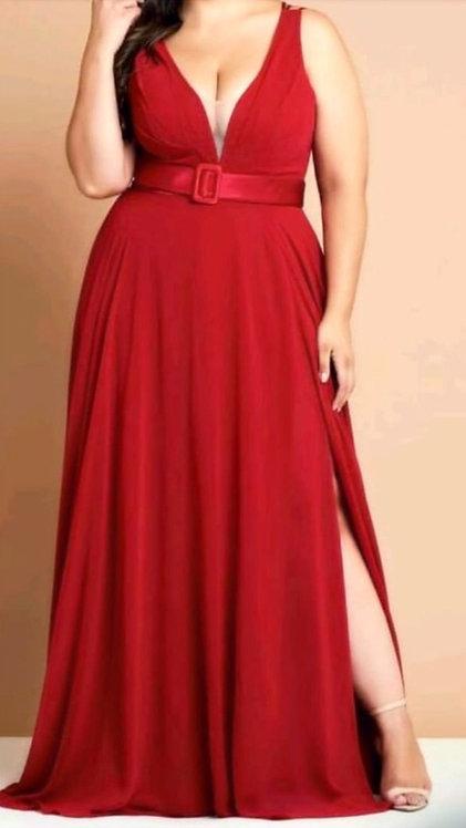 Vestido Longo Vermelho Ref. 199