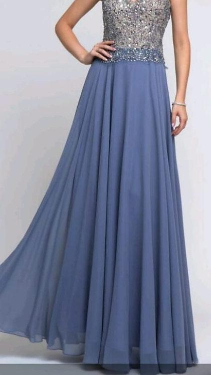 Vestido Longo Azul Serenity Médio Ref: 006