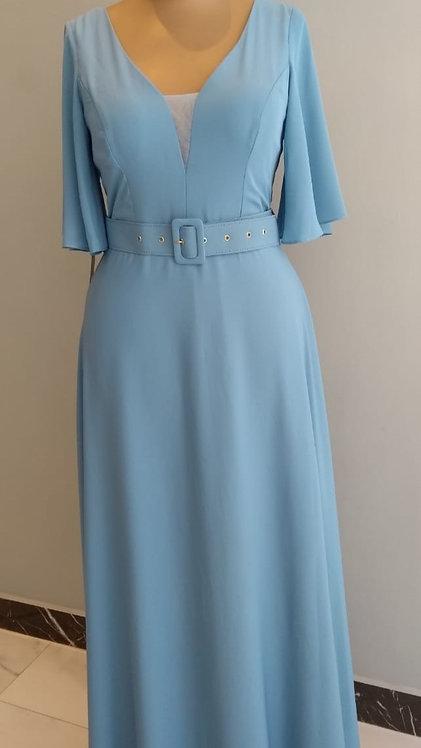 Vestido longo  azul serenity ref.1002