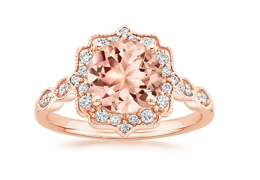 Morganite engagement ring from Brilliant Earth