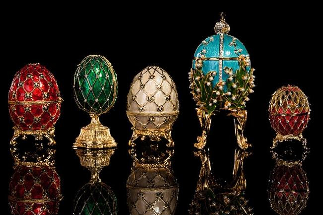Some of Faberge's beautiful eggs