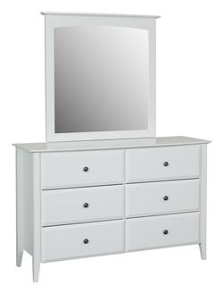 Cw - Orinda 6 drw dresser with mirror