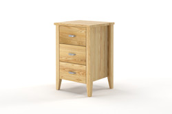 Ivydale Small 3 Drawer (narrow) Bedside Ash Natural SaxonAmerican Ash  or pine - nz made -