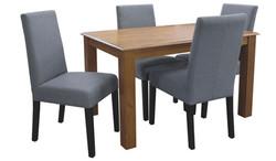 FC - Kendal 1200 + T-Bar-Dark Grey chairs