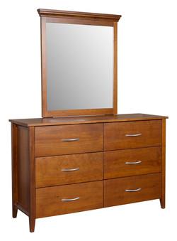 CW - 6 drw dresser with mirror