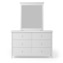 CW - Adventure 6 Drw Dresser & Mirror white