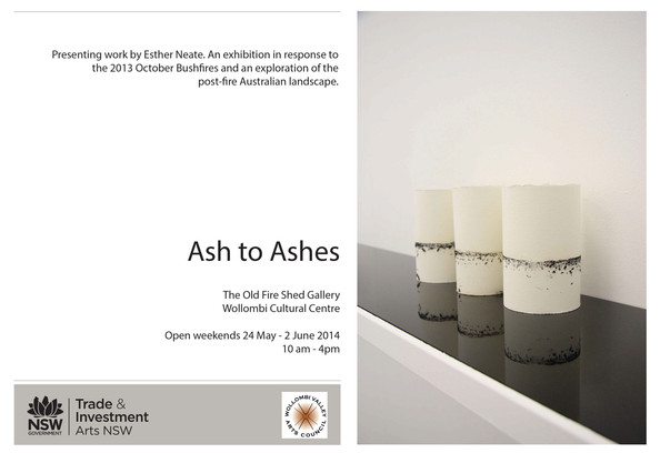 Ash to Ashes - The Old Fire Shed Gallery Invite