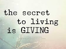 Monday Motivation: The Secret to Living is Giving