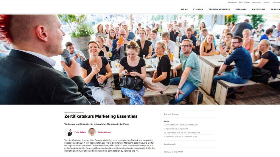 Marketing Seminar bei der Depak