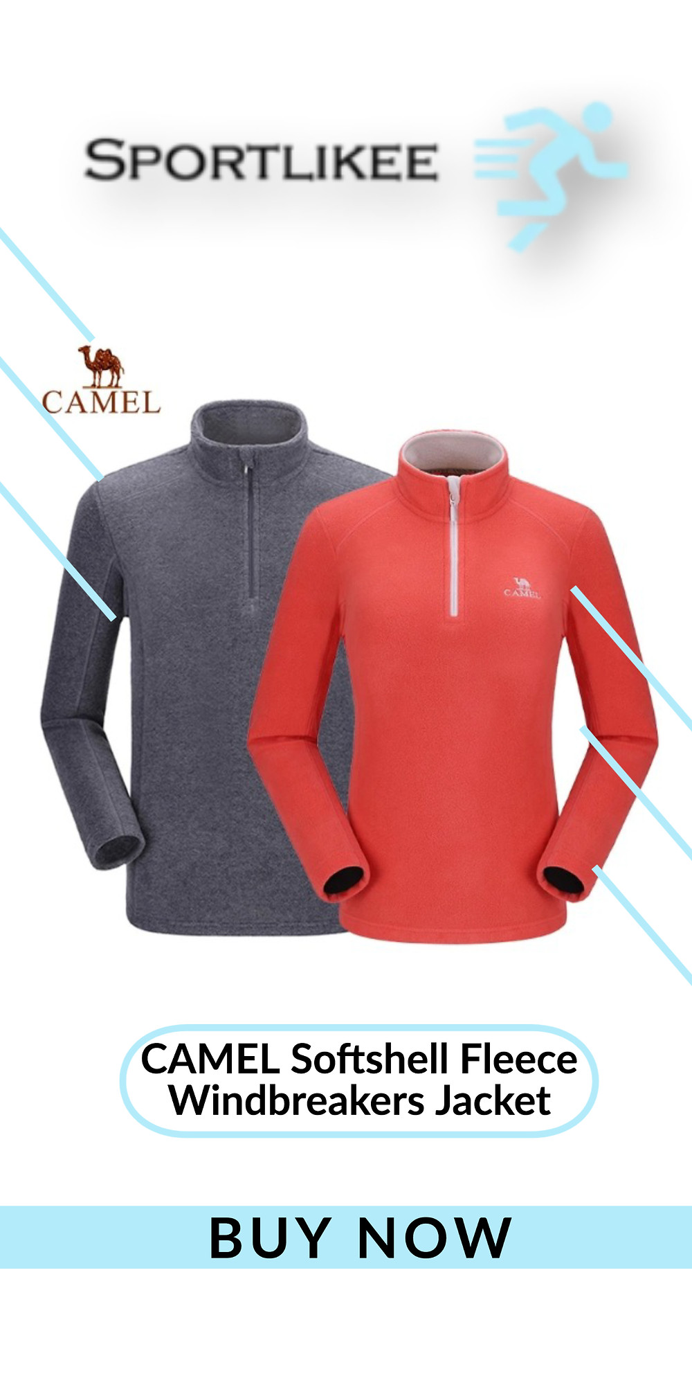 CAMEL Softshell Fleece Windbreakers Jacket