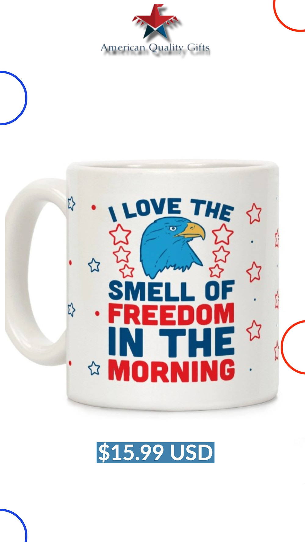 I Love The Smell Of Freedom In The Morning Ceramic Coffee Mug