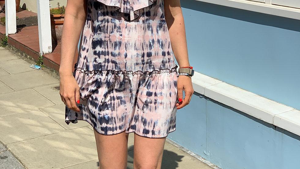 Collette Mini Dress in Pink Tie Dye