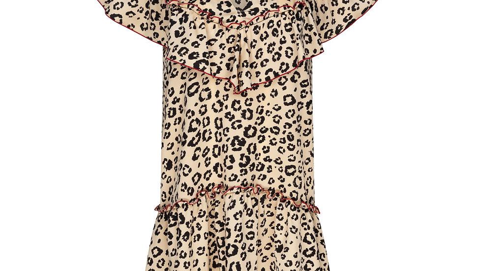 Collette Mini Dress in Leopard