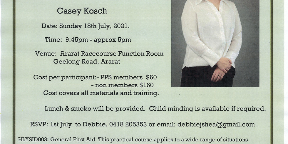 Accredited First Aid Course