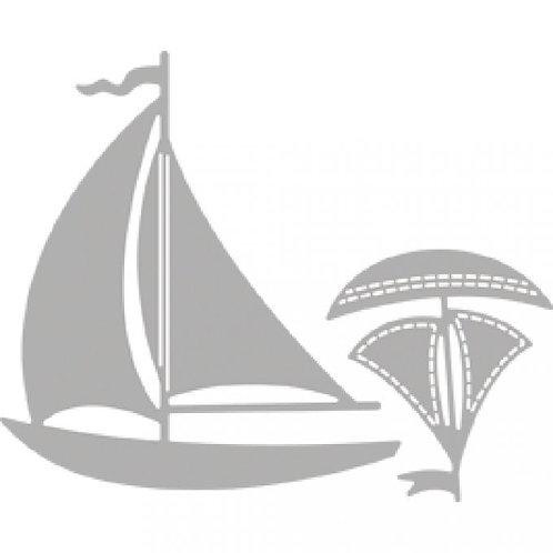 Stanzschablone Segeln 6,8x7,5cm, SB-Btl 2Stück