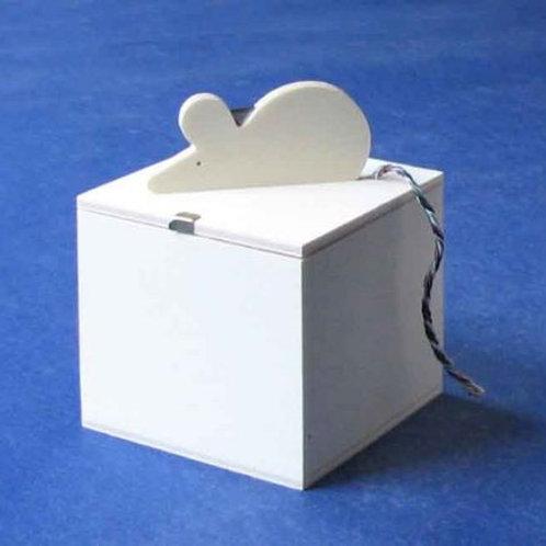 Schnurbox inkl. Schnur, Pappelsperrholz